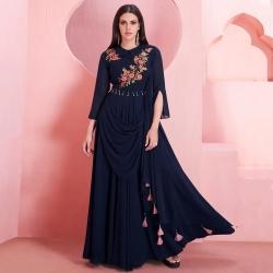 Littledesire Latest Designer Embroidered Work Georgette Gown