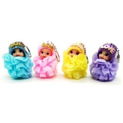 Cute Mini Soft Toy Doll Keychain Pack Of 4