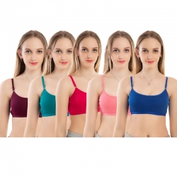 High Quality Daily Wear Sports Bra Pack of 5