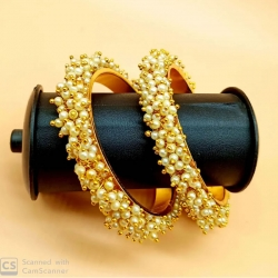 Classic Pearl Studded Moti Traditional Bracelet Bangles