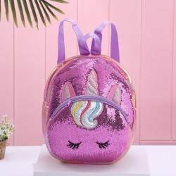 Unicorn Travel Sequins Glitter Shoulder Backpack -12 inch