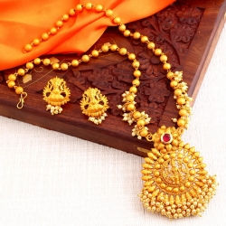 Classic Laxmi Design Gold Plated Necklace Set