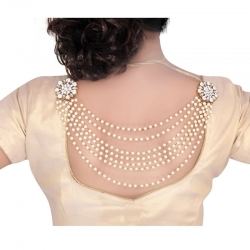 Designer White Pearls Made Gold Plated Broach
