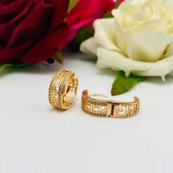 Rose Gold-Plated Round Shape Hoop Earrings