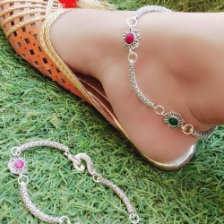 Stylish Silver Plated Designer Anklets Payal