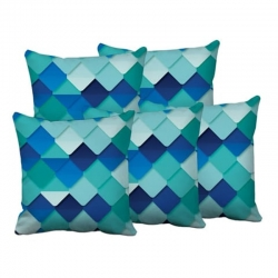 Digital Printed Multicolor Cushion Covers 16 x 16 inch Pack of 5