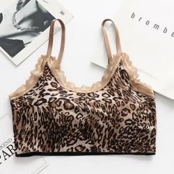 Leopard Print Cotton Lycra Lightly Padded Aire Bralette