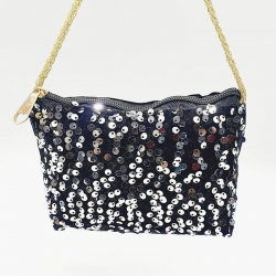 Sequins Zipper Clutch Wallet Handbag Bag 4.5 Inch