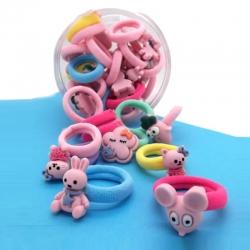 Cute Mini Childrens Hair Ropes Elastic Rubber Bands - 30 pcs