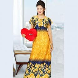 Women Floral Print Satin Nighty