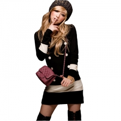 Chic Neck Button Long Sleeves Mini Dress