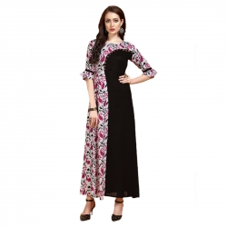 Littledesire Latest Printed  Stylish Stitched Long Kurta