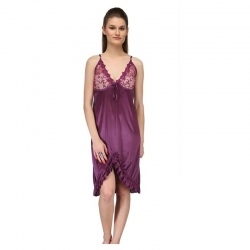 Littledesire Pink And Purple Babydoll Sleepwear