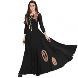 Littledesire Embroidered Georgette Partywear Long Kurta