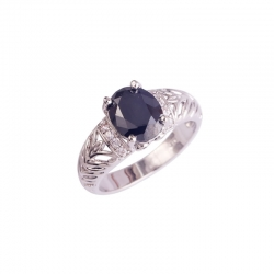 Littledesire Black & White CZ AAA Silver Color Ring