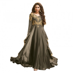 Littledesire  Stylish Embroidered Silk Gown