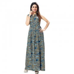 Littledesire Stylish Printed Long Kurta Dress