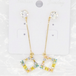 Littledesire Square Shape Flower Design Earrings