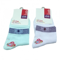 Littledesire Random Color Women Cotton Socks 2 Pairs