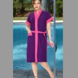 Fast Drying Solid Cotton Towel Bathrobe