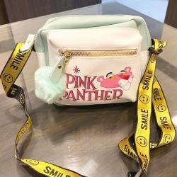 Pink Panther Pu Leather Shoulder Messenger Bag