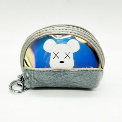 Rabbit Fur Clutch Wallet With Keychain 4.5 inch
