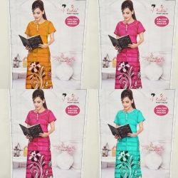 Women Floral Print Cotton Nighty Pack of 4