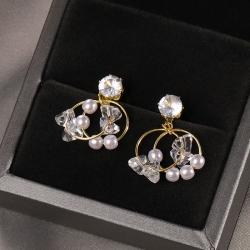 S925 Wild Pearl Temperament Simple Luxury Earrings