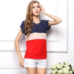 Korean Chiffon Short Sleeve Tops