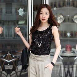 Shining Bling Sequin Sleeveless Tank Top