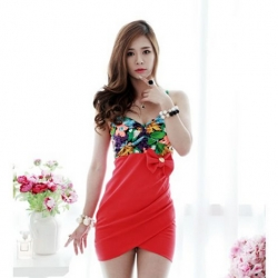 Trendy V-Neck Bodycon Dress