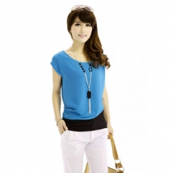 Short Sleeve Casual Chiffon Tops