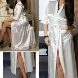 Long Sexy Kimono Robe Babydoll Nightdress