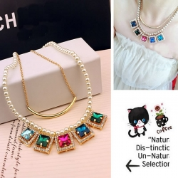Multi Layers Chain Imitation Pearl Necklace