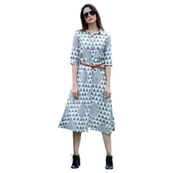 Littledesire Designer Printed Dress Style Rayon Kurta