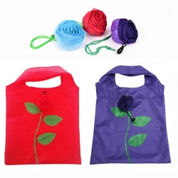 2 Pcs Reusable Foldable Rose Grocery Shopping Bag