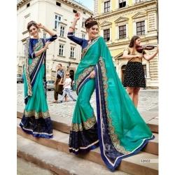 Littledesire Georgette Silk Designer Embroidered Saree