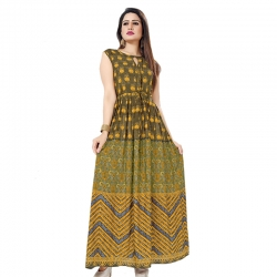 Littledesire Floral Printed Long Kurta Dress