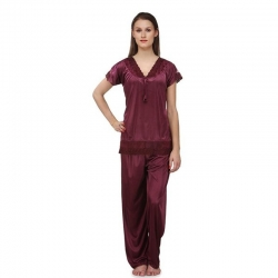 Littledesire Lace Short Sleeve Top & Pajama Night Suit