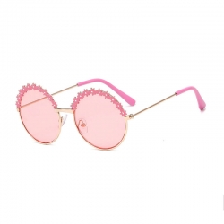 Littledesire Fashion Designer Round Shape Girls Sunglasses