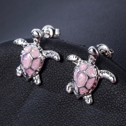 Littledesire Turtle Zinc Alloy Stud Earrings