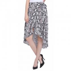 Littledesire Asymmetrical Snake Print Spunky Skirt