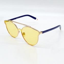 Metal Frame Women Designer Vintage Round Sunglasses