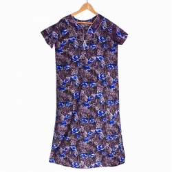 Women Floral Print Cotton Nighty