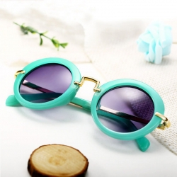 Stylish Round Retro Anti-UV400 Unisex Kids European Sunglasses