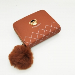 Mini Purse PU Leather Zipper Wallet