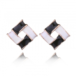 Elegant Sweet Candy Droplet Square Earrings