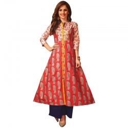 Littledesire A-Line Printed Long Kurta