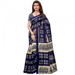 Littledesire Art Silk Printed Saree With Blouse