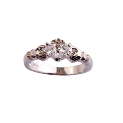 Littledesire AAA White CZ Silver Plated Ring